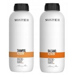 Selective Keratin zestaw szampon + odżywka 2x1000