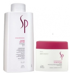WELLA SP SHINE DEFINE SZAMPON 1000ML + MASKA 400ML