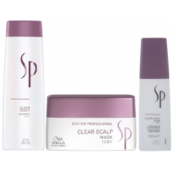 WELLA SP CLEAR SCALP SZAMPON 250ml + MASKA 200ml + TONIK 125ml