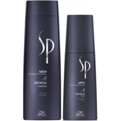 WELLA SP Men Refresh Szampon 250ml + Tonik 125ml