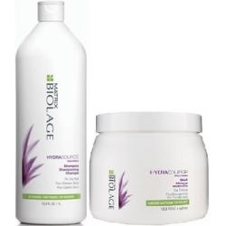 MATRIX BIOLAGE HYDRASOURCE SZAMPON 1000 ml + MASKA 500ml