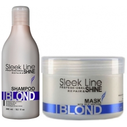 Stapiz Sleek Line Blond szampon 300ml + maska 250ml