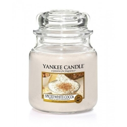 YANKEE CANDLE ŚWIECA SPICED WHITE COCOA 411G