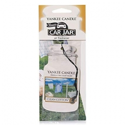 YANKEE CANDLE CAR JAR ZAWIESZKA CLEAN COTTON