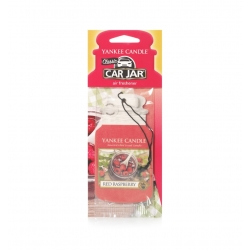 YANKEE CANDLE CAR JAR ZAWIESZKA RED RASPBERRY