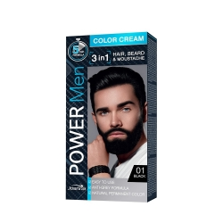 JOANNA POWER MEN COLOR CREAM FARBA 3W1 01 BLACK