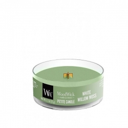 WOODWICK PETITE MINI ŚWIECA WHITE WILLOW MOSS 31G